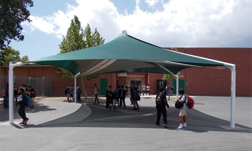 shade structures for schools courtyards
